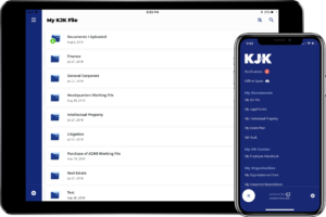 Screenshot of the Connective Counsel iPad and iPhone app for KJK